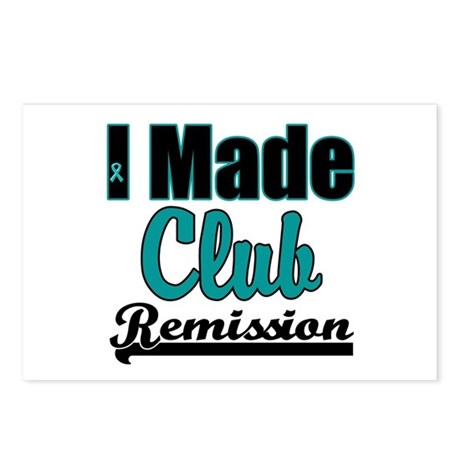 Club Remission Teal Postcards (Package of 8)
