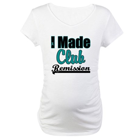 Club Remission Teal Maternity T-Shirt