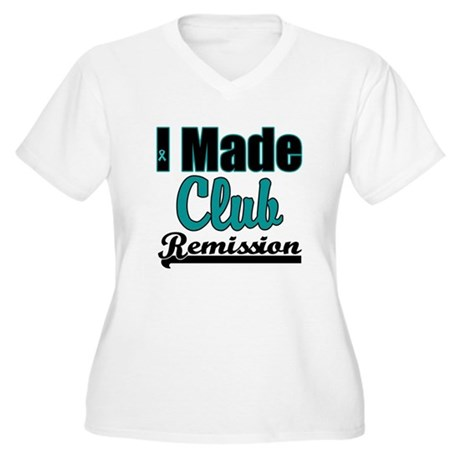 Club Remission Teal Women's Plus Size V-Neck T-Shi