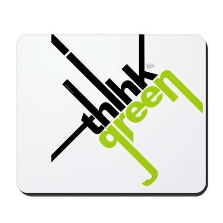 Think Green Typography Mousepad