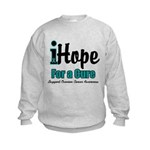 iHope Ovarian Cancer Kids Sweatshirt