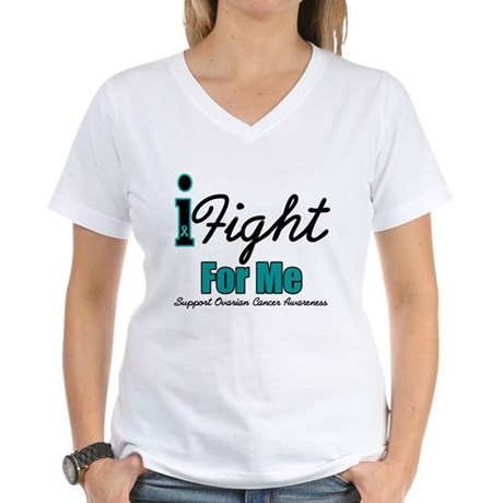 I Fight For Me (OC) Women's V-Neck T-Shirt