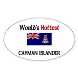 World's Hottest Cayman Islander Oval Decal