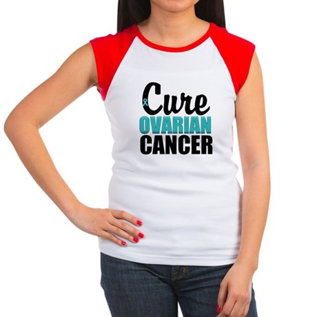 Cure Ovarian Cancer Women's Cap Sleeve T-Shirt