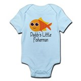 Daddy's Little Fisherman  Baby Onesie
