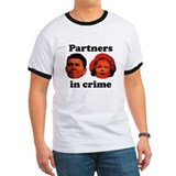 Partners in Crime Reagan/Thatcher ringer t-shirt