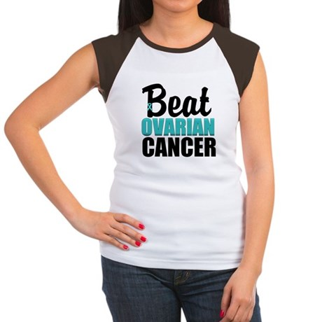 Beat Ovarian Cancer Women's Cap Sleeve T-Shirt