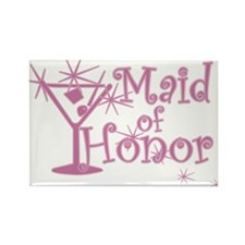 Pink C Martini Maid Honor Rectangle Magnet (100 pa