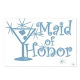 Blue C Martini Maid Honor Postcards (Package of 8)