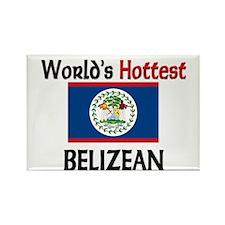 World's Hottest Belizean Rectangle Magnet (10 pack