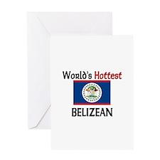 World's Hottest Belizean Greeting Card