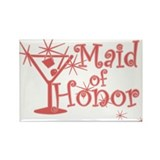 Red C Martini Maid Honor Rectangle Magnet