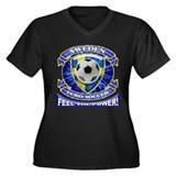 Sweden Soccer Power Women's Plus Size V-Neck Dark