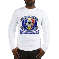 Romania Soccer Power Long Sleeve T-Shirt