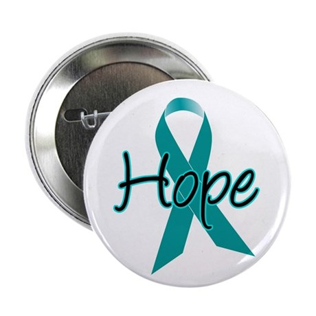 "Hope Teal Ribbon 2.25"" Button (10 pack)"