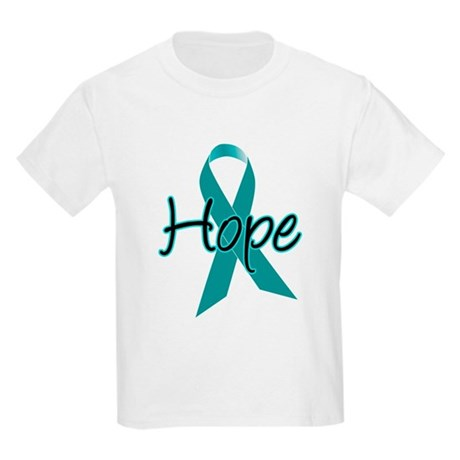 Hope Teal Ribbon Kids Light T-Shirt