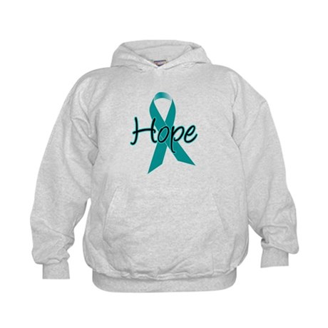 Hope Teal Ribbon Kids Hoodie