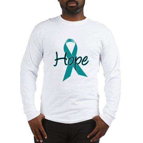 Hope Teal Ribbon Long Sleeve T-Shirt