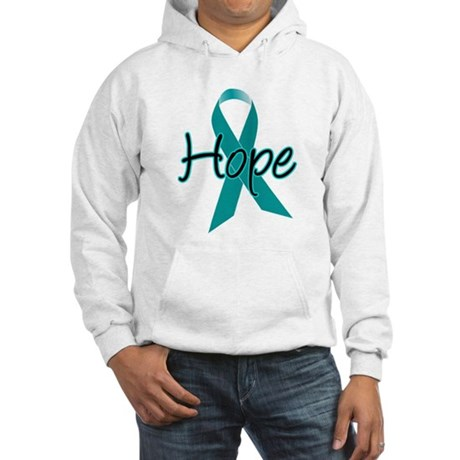 Hope Teal Ribbon Hooded Sweatshirt