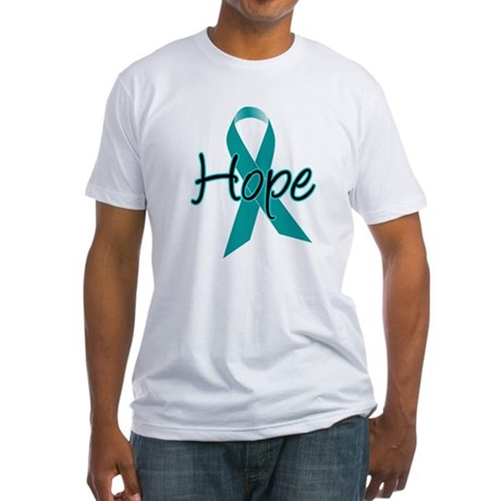 Hope Teal Ribbon Fitted T-Shirt