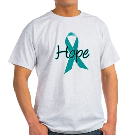 Hope Teal Ribbon Light T-Shirt