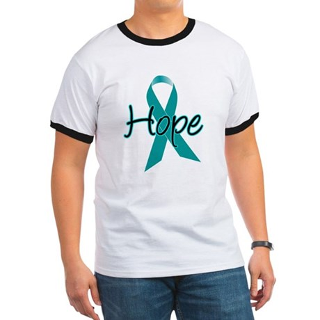 Hope Teal Ribbon Ringer T