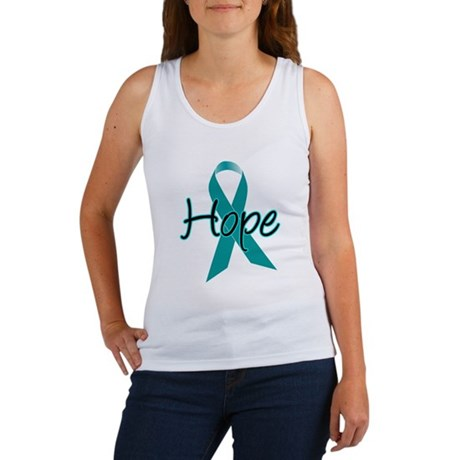 Hope Teal Ribbon Women's Tank Top