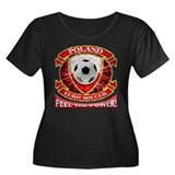 Poland Soccer Power Women's Plus Size Scoop Neck D