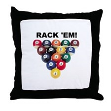 RACK 'EM! Throw Pillow
