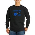 Autistic Kids Rock! Blue Guit Long Sleeve Dark T-S