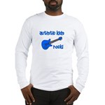 Autistic Kids Rock! Blue Guit Long Sleeve T-Shirt