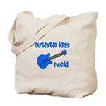 Autistic Kids Rock! Blue Guit Tote Bag
