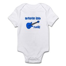 Autistic Kids Rock! Blue Guit Infant Bodysuit