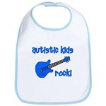 Autistic Kids Rock! Blue Guit Bib