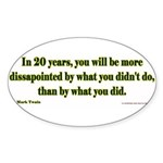20 YEARS Sticker (Oval 10 pk)