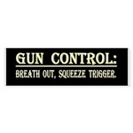 Gun Control black Bumperstickers Sticker (10 pk)