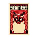 SIAMESE Cat Dictator - Mini Poster Print