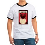 Siamese Dictator - Cat Propaganda Ringer T