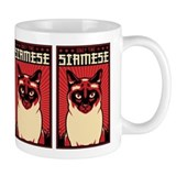 Obey the SIAMESE! Cat Propaganda Mug