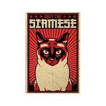 SIAMESE Cat Dictator Propaganda Magnet
