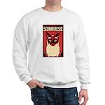 Obey the SIAMESE - Dictator Cat Sweatshirt