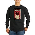 SIAMESE Cat Dictator -Long Sleeve Dark T-Shirt