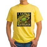 I Love Saturn Yellow T-Shirt