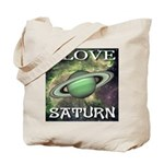 I Love Saturn Tote Bag