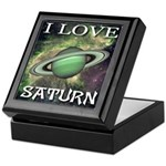 I Love Saturn Keepsake Box