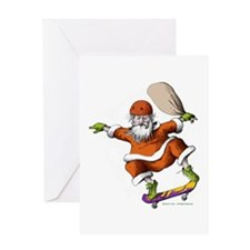 Skateboarding Santa Greeting Card