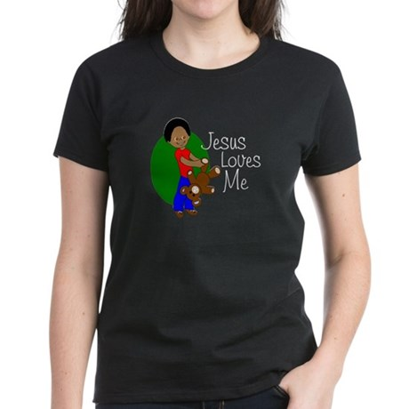 Jesus Loves Me Women's Dark T-Shirt