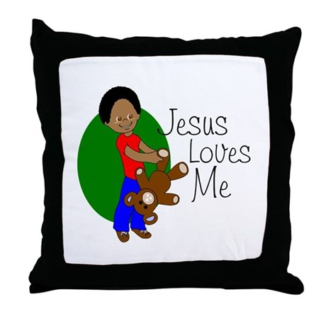 Jesus Loves Me Throw Pillow