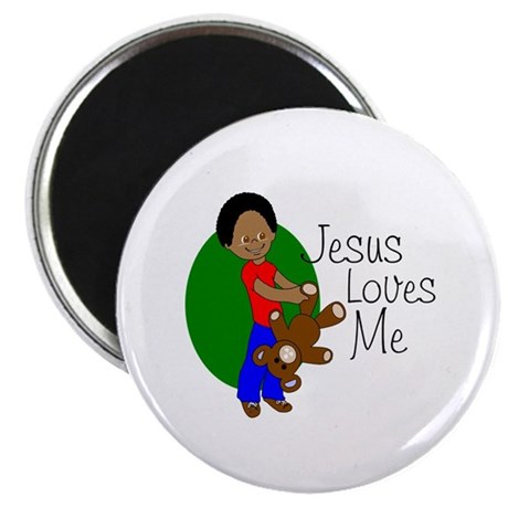 "Jesus Loves Me 2.25"" Magnet (100 pack)"
