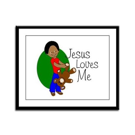 Jesus Loves Me Framed Panel Print
